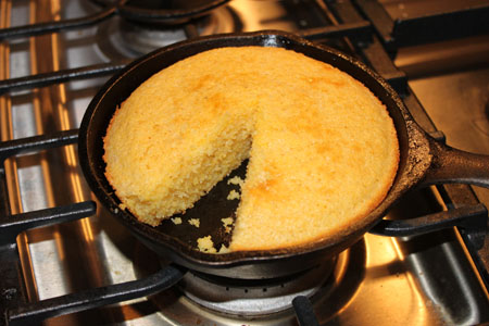 Small Batch Cast Iron Skillet Cornbread