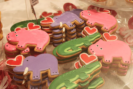 Frosted animal cookies from Eleni's