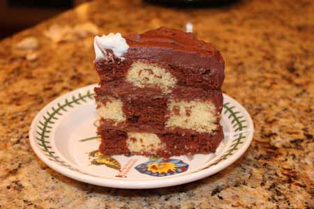 Checkerboard Cake Slice
