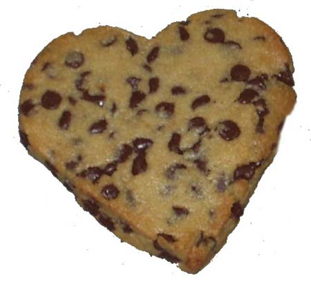 Easy Heart Shaped Chocolate Chip Cookies
