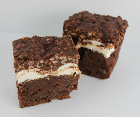 Rice Krispies Topped Brownies