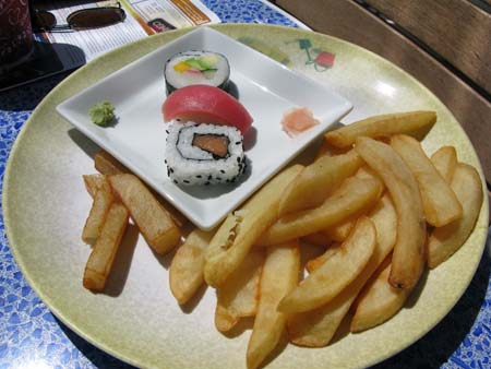 Sushi and French Fries