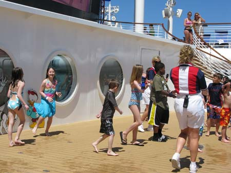 kids dancing on Disney Dream