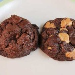 double chocolate hazelnut cookies
