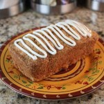 iced carrot bread loaf