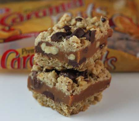 caramel bars with oats