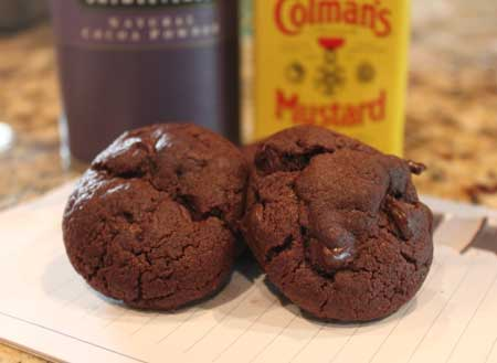 Mustard Spiced Chocolate Cookies