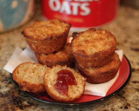 cooked oatmeal muffins