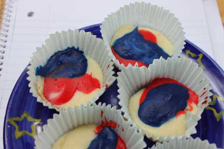 Red, White and Blue Cheesecake Cups