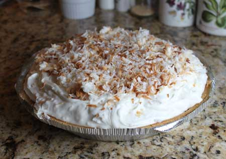 Easy Cream of Coconut Pie