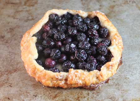 free form blueberry tart
