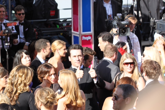 John Hamm giving the Thumbs Up