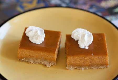 Biscoff Cookie Butter Pumpkin Pie Squares - Cookie Madness
