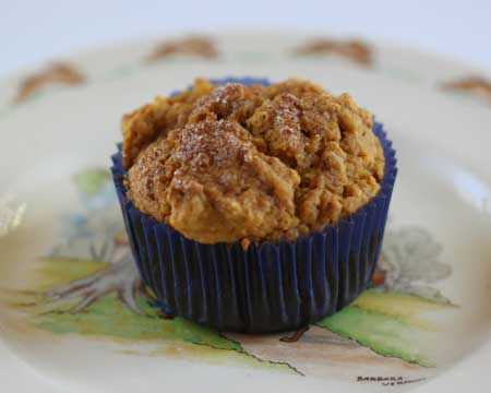Lower Calorie Maple Pumpkin Muffins