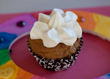 Pumpkin Cupcakes with Pudding