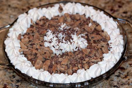 chocolate crumb cream pie