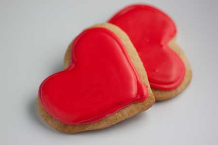 Cut Out Cookie Hearts
