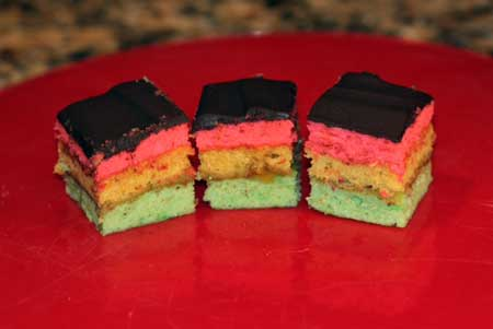 tri-color cookies