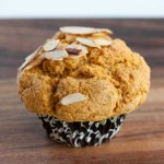 Coconut oil pumpkin muffin