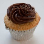 Yellow Cupcake with Chocolate Icing