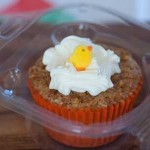 Carrot Cupcake with an Easter Chick