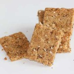 flax and garlic crackers