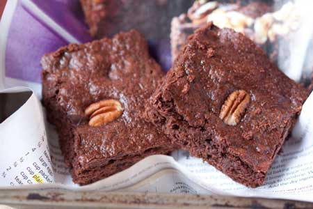 brownies made with coconut oil