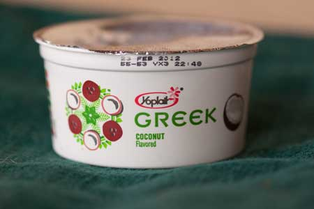 Yoplait Coconut Greek yogurt