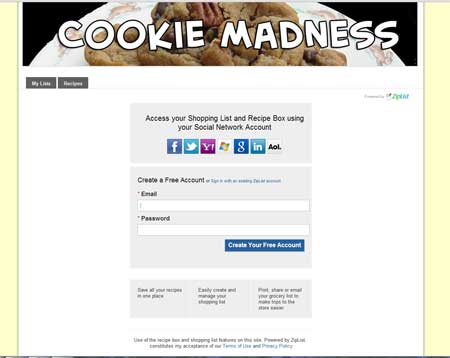 ziplist cookie madness