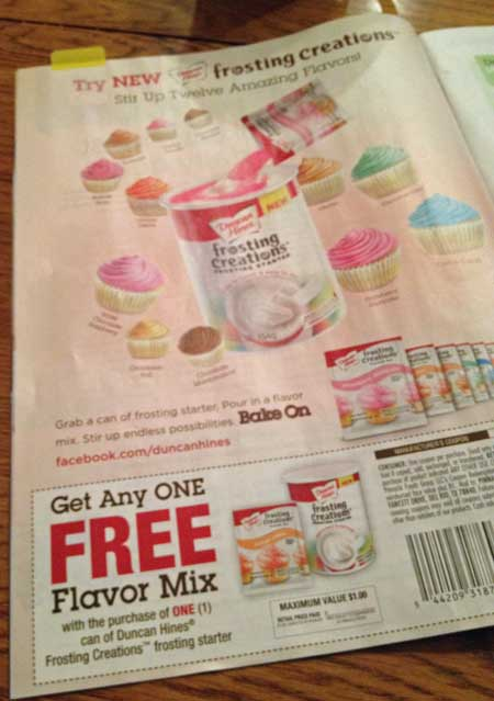 coupon for frosting creations