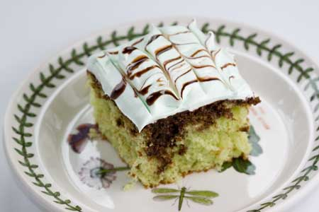 St. Patrick's Day Mint Cake