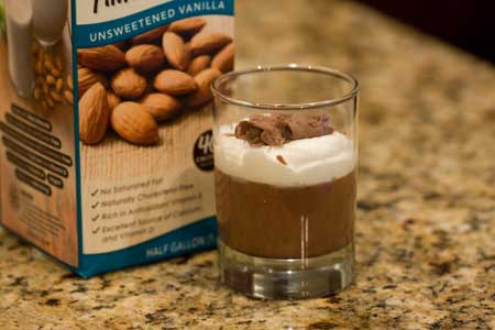almond milk chocolat pudding