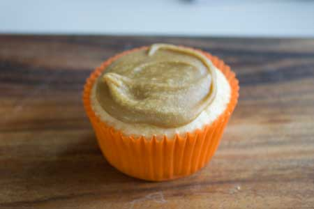 Cupcake with caramel frosting