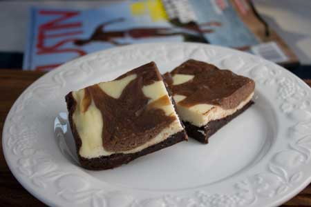 Chocolate Hazelnut Cream Cheese Brownies