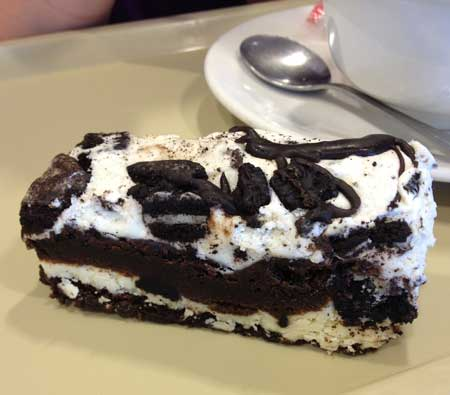 Oreo Stack Brownie from Starbucks