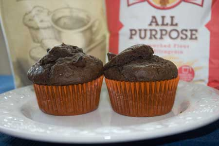 Chocolate Muffins made with Steviacane and Ultragrain flour