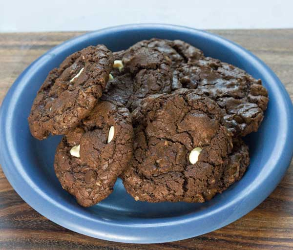 Double Chocolate Coconut Cookies