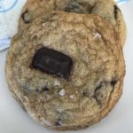 flat chocolate chunk cookies