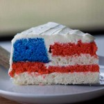 Hidden Flag Cake with Whipped Cream Cheese Icing
