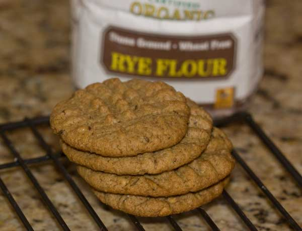 peanut butter and rye cookies