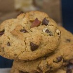 Thick, Crumbly, Chocolate Chip Cookies with Ground Granola