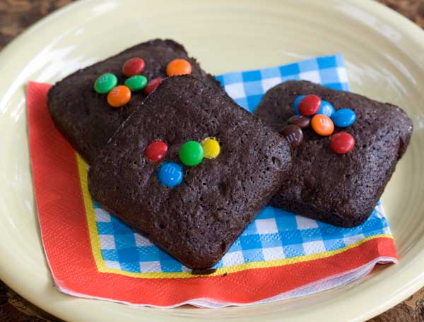 Square shaped brownies