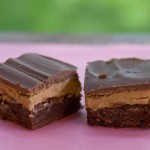 peanut butter topped brownies