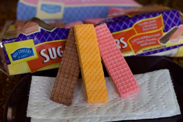 sugar wafers