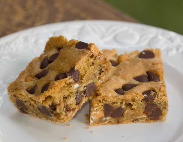 Triple Chip Toasted Pecan Bars