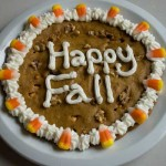 "Pumpkin Cookie Cake or ""Cookie Pizza"""
