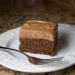Chocolate Maple Cake with Chocolate Mousse