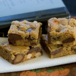 peanut butter candy bar blondies
