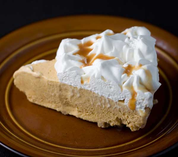 ... , here's a pumpkin ice cream pie to help you make the transition