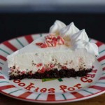 Peppermint Cheesecake with Candy Cane Oreo Crust